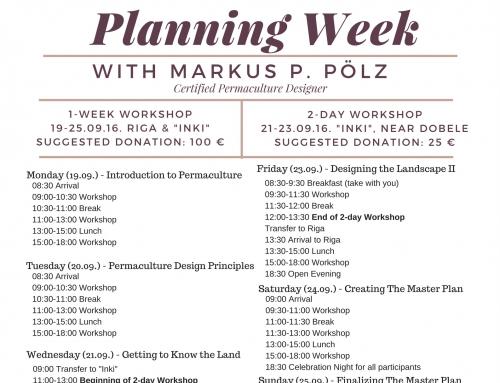 Pievienojies mums uz permakultūras plānošanas nedēļu ar austrieti Marcus Polz!